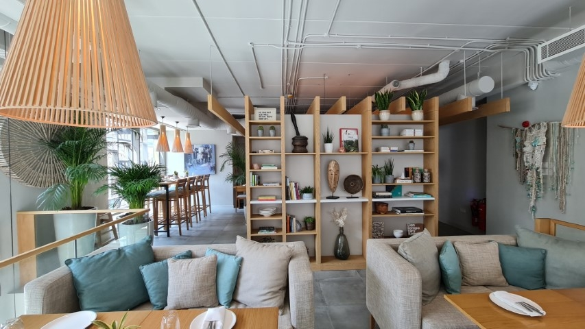 Plant Cafe - Al Liwan Mall Interiors fit-out works including MEP